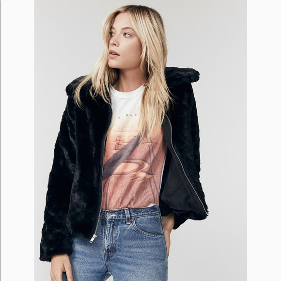 Reformation Piano jacket with faux fur